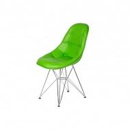 Krzesło King Home Eames EPC DSR ekoskóra żywa zieleń