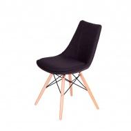 Krzesło King Home Fabric czarne