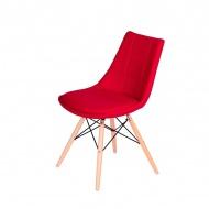 Krzesło King Home Fabric czerwone