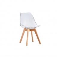 Krzesło King Home Nordic Clear przezroczyste
