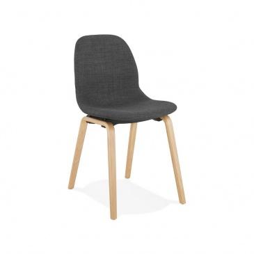 Krzesło Kokoon Design Capri ciemnoszare nogi naturalne