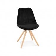 Krzesło Kokoon Design Jones czarne nogi naturalne