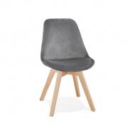 Krzesło Kokoon Design Phil szare nogi naturalne