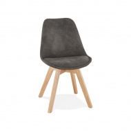 Krzesło Kokoon Design Some ciemnoszare nogi naturalne