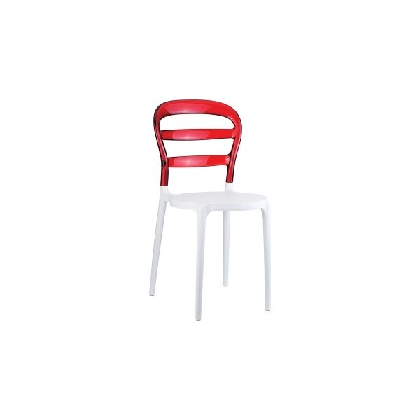 Krzesło Miss Bibi biały/czerwony DK-9798