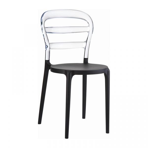 Krzesło Miss Bibi czarne, clear transp 8697443551095