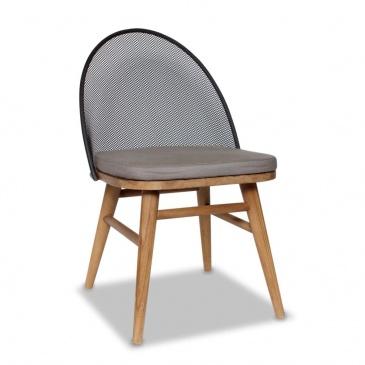 Krzesło obiadowe Taman 50x57x82 cm Miloo Home brązowo-szary ML7683