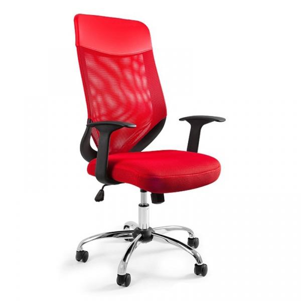 Krzesło obrotowe Unique Mobi Plus czerwony W-952-2