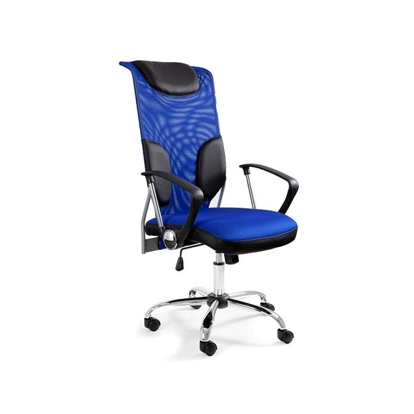 Krzesło obrotowe UNIQUE Thunder niebieskie W-58-7