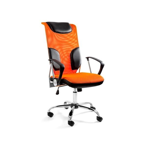 Krzesło obrotowe UNIQUE Thunder pomarańczowe W-58-5