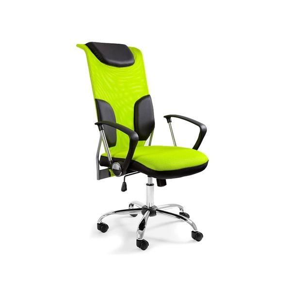 Krzesło obrotowe UNIQUE Thunder zielone W-58-9