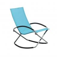 Krzesło ogrodowe niebieskie tekstylne składane Nero BLmeble