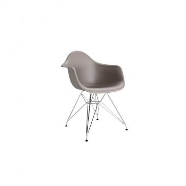 Krzesło P018 PP milde grey, chrom nogi HF