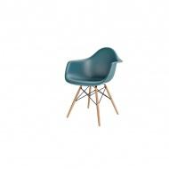 Krzesło P018W PP navy green drewniane  nogi