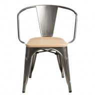 Krzesło Paris Arms Wood D2 metaliczne/sosna naturalna
