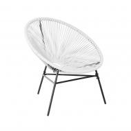 Krzesło rattanowe białe Aprile