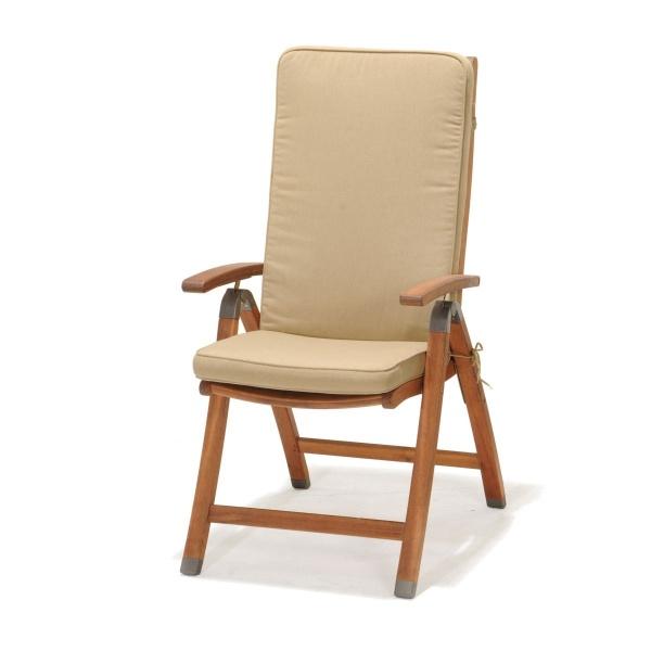 Krzesło składane z podłokietnikami  z poduszką D2 Catalina 5705820258925