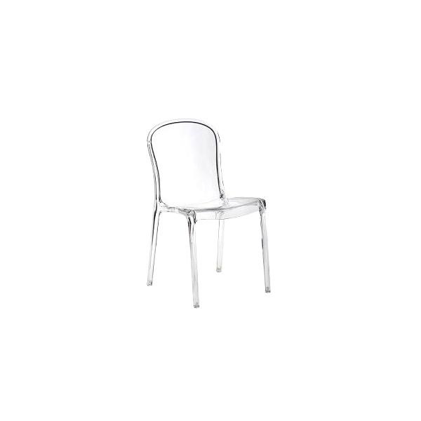 Krzesło Uma transparentne przeźroczyste DK-3253