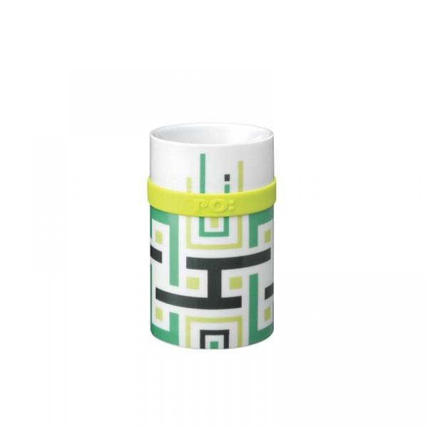 Kubek 250 ml PO: Green Geometric P14685