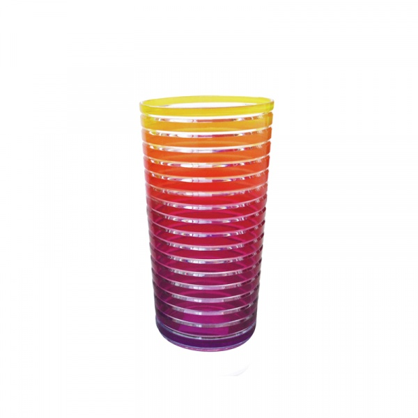 Kubek 360 ml Zak! Designs Rainbow żółto-różowy 6685-1400