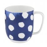 Kubek 380 ml porcelanowy w kropki Nuova R2S Indigo niebieski