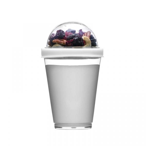 Kubek do jogurtu z pojemnikiem na musli 0,3 l Sagaform Fresh biały SF-5017454