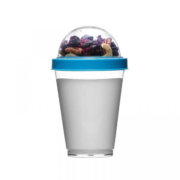 Kubek do jogurtu z pojemnikiem na musli 0,3 l Sagaform Fresh niebieski SF-5017453