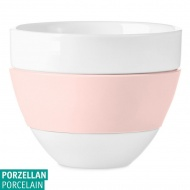 Kubek do latte 300ml Koziol AROMA biały/jasny róż KZ-3560347