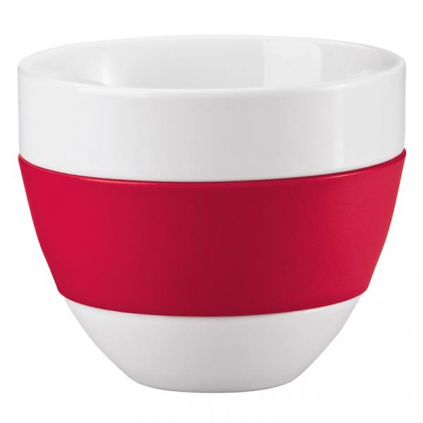 Kubek do latte 350ml Koziol Aroma biało-czerwony KZ-3560583