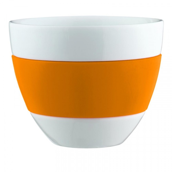 Kubek do latte 350ml Koziol Aroma biało-pomarańczowy KZ-3560521