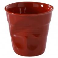 """Kubek """"gnieciony"""" do cappuccino 0,18 l Revol Froisses czerwony"""