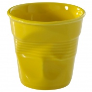 """Kubek """"gnieciony"""" do cappuccino 0,18 l Revol Froisses żółty"""
