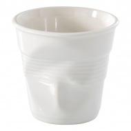 """Kubek """"gnieciony"""" do espresso 80 ml Revol Froisses biały"""