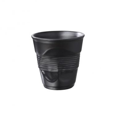 Kubek gnieciony śniadaniowy 0,33 l Revol Froissee czarny matowy