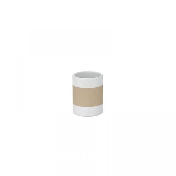 Kubek łazienkowy Kela Laletta beżowy KE-22551