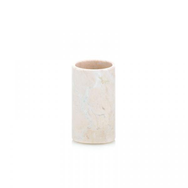 Kubek łazienkowy Kela Marble beżowy KE-18766