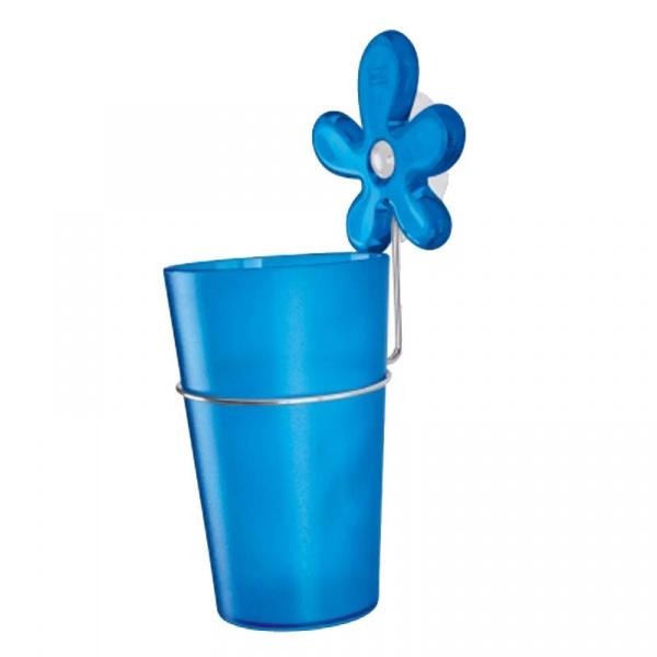 Kubek łazienkowy na szczoteczki z przyssawką Koziol A-pril niebieski KZ-5821598