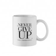 "Kubek ""Never Give Up"" 300 ml Healthy Plan By Ann biały - Anna Lewandowska"