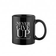 "Kubek ""Never Give Up"" 300 ml Healthy Plan By Ann czarny - Anna Lewandowska"