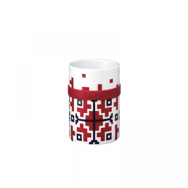 Kubek porcelanowy 200 ml PO: Folkloric czerwony P14687