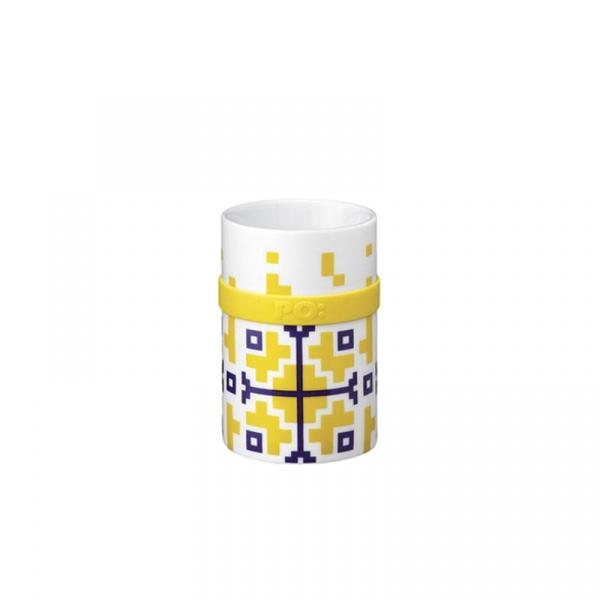 Kubek porcelanowy 200 ml PO: Folkloric żółty P14688