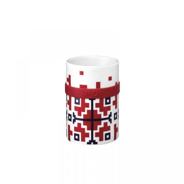 Kubek porcelanowy 250 ml PO: Folkloric czerwony 14683
