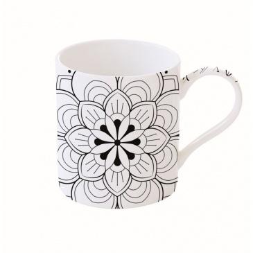Kubek porcelanowy 400 ml Nuova R2S Art & Colour kwiat