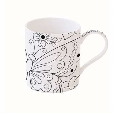 Kubek porcelanowy 400 ml Nuova R2S Art & Colour motyl