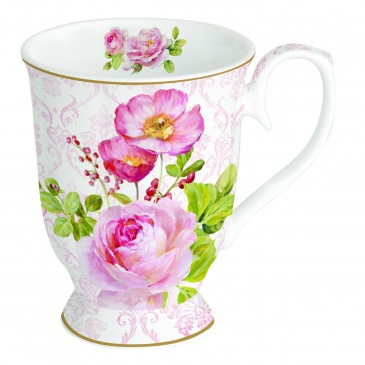 Kubek porcelanowy 400 ml Nuova R2S Floral Damask