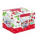Kubek porcelanowy 400 ml Nuova R2S świąteczny bałwanki