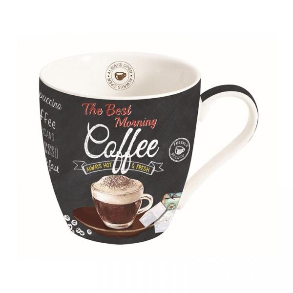 Kubek porcelanowy do kawy 0,35L Nuova R2S czarny 1010 ICTB