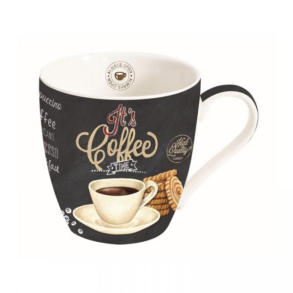 Kubek porcelanowy do kawy 0,35L Nuova R2S czarny biały 1010 ICTW