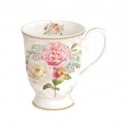 Kubek porcelanowy na stopce 300ml Nuova R2S Romantic Lace