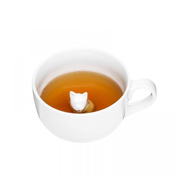 Kubek porcelanowy z pieskiem 600 ml Sagaform Tea SF-5017474